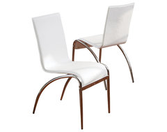 Aude White Modern Chairs (Set of 2) modern-dining-chairs