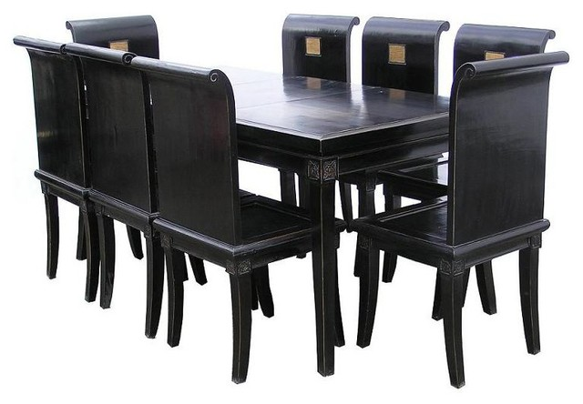 Black lacquer dining room table