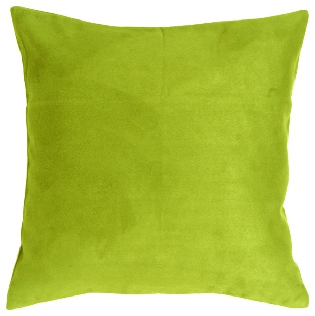 Pillow Decor - 18 x 18 Royal Suede Lime Green Throw Pillow - Contemporary - Decorative Pillows ...