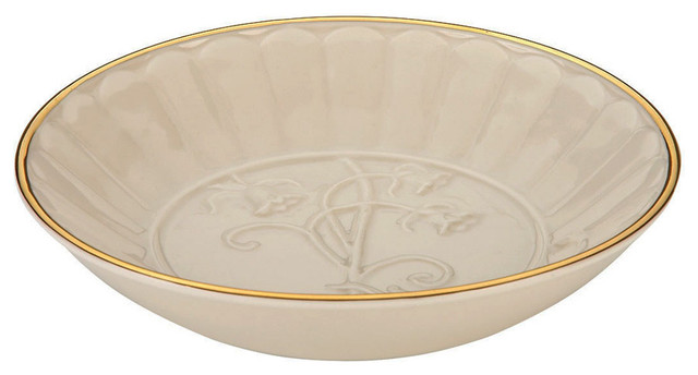 Lenox Neutral Ivory Floral Melody Small Dish Contemporary
