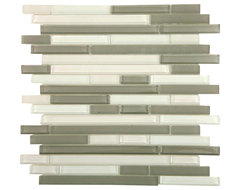Tao Sea Wave Glass Tiles Sheet Contemporary Tile By