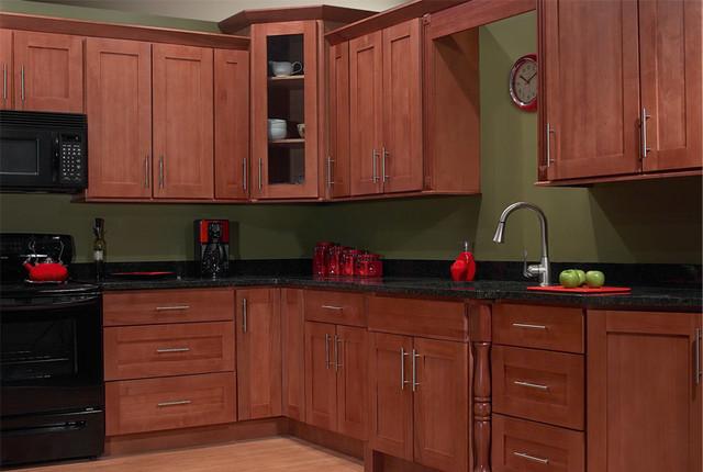 Natural Cherry Wood Kitchen Cabinets Beautiful 10 Foot Run Natural
