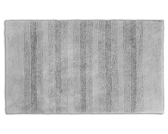 "Sands Rug - Westport Stripe Stormy Seas Washable Bath Rug (2'6"" x 4'2"") - Classic and comfortable, the Westport Stripe bath collection adds instant luxury to your bathroom, shower room or spa. Machine-washable, always plush nylon holds up to wear, while the non-skid latex makes sure rugs stay in place."