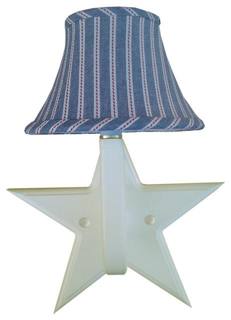 Zipper Stripe Star Sconce contemporary-kids-lighting