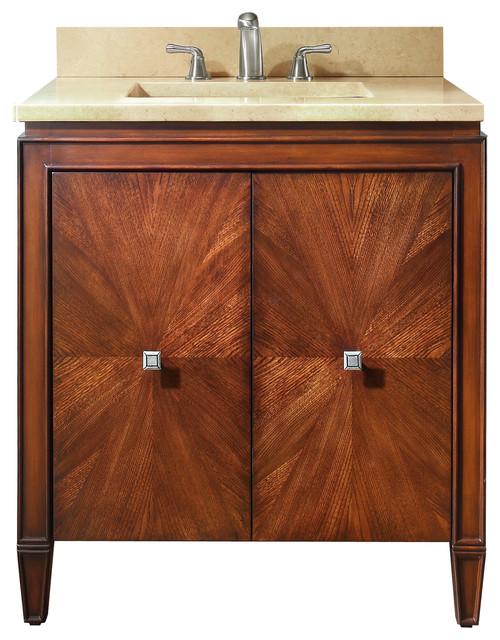 Brentwood 31 In Vanity Combo Contemporary Bathroom Vanities And Sink Con