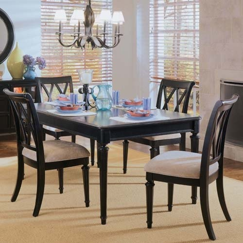 American Drew Camden Black Leg Table traditional-dining-tables