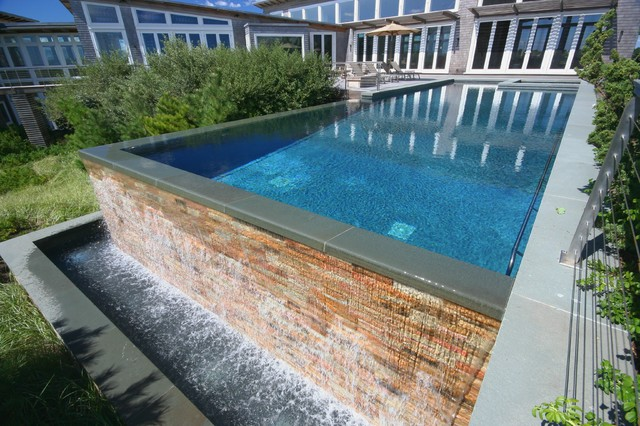 Infinity Edge Negative Rimless Pools Contemporary