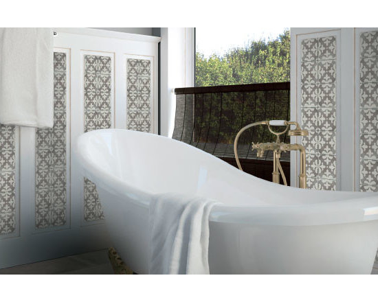 Vintage Grey - The Palazzo collection provides a multi-faceted dynamic of old world charm and modern beauty with three beautiful colors and four unique decorative designs. Trim options and mosaics also available.