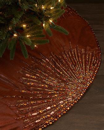 Kim Seybert Spectrum Tree Skirt contemporary-christmas-tree-skirts