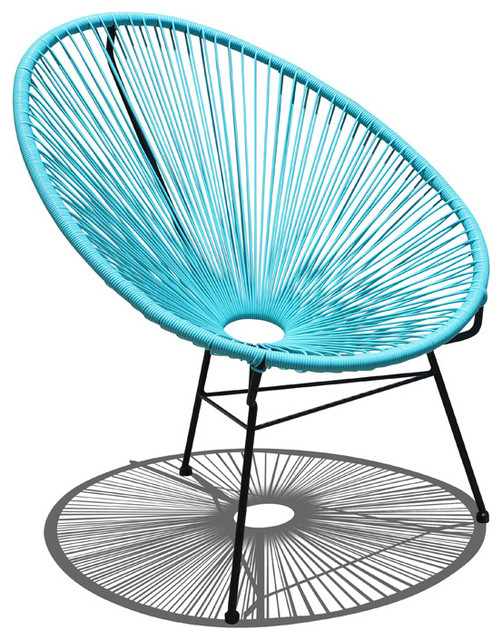 Acapulco Patio Chair Glacier Blue Modern Outdoor Lounge Chairs