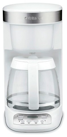 Cuisinart DCC-750 Flavor Brew 12-Cup Coffee Maker - White traditional-coffee-makers-and-tea-kettles