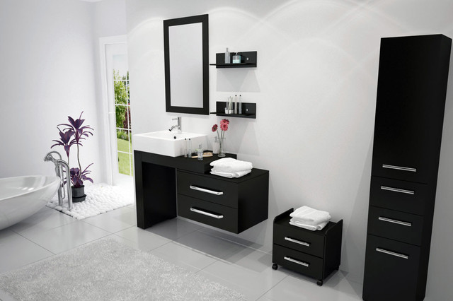 "33.5"" to 57"" Reversible Scorpio Bathroom Vanity modern"