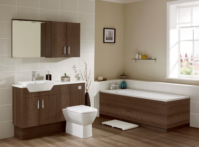 Walnut Bathroom Furniture Contemporary Bathroom