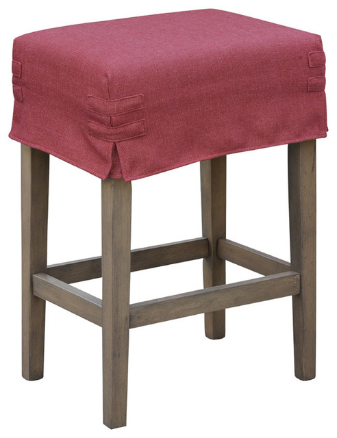 Counter Height Chair Covers : ... Saddle Stool with Slipcover contemporary-bar-stools-and-counter-stools