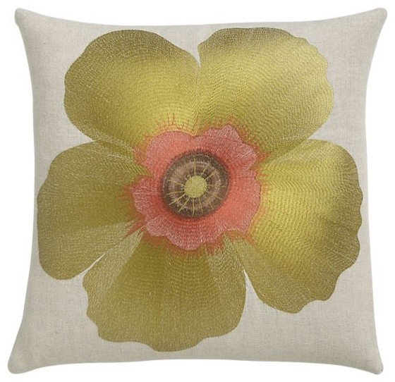 Fiori Chartreuse Pillow contemporary pillows