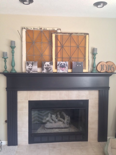 Fireplace Mantle Painted With Ace Hardware Cabinet Amp Trim
