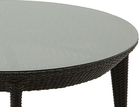 Glass Overlay for Multicolored Round Conversation Table, Patio Furniture traditional-bar-tables