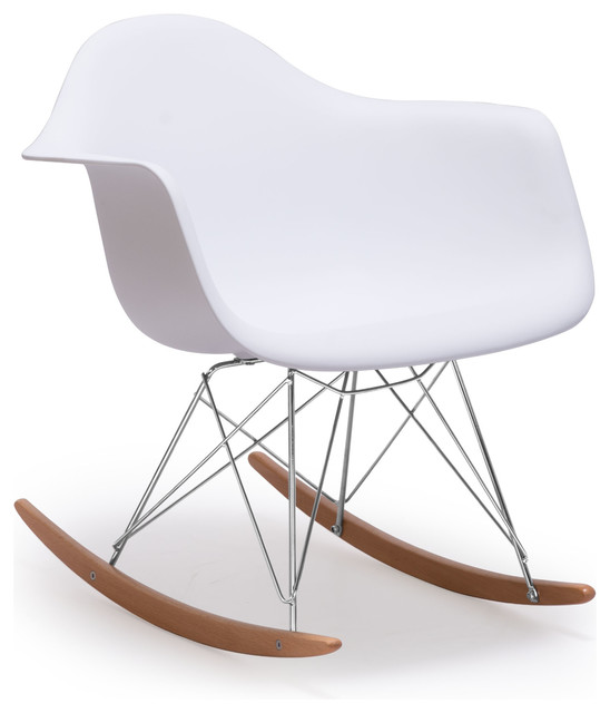 Rocket Chair White contemporary-chairs