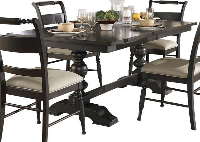 94x42 rectangular dining table in black dark wood dining tables