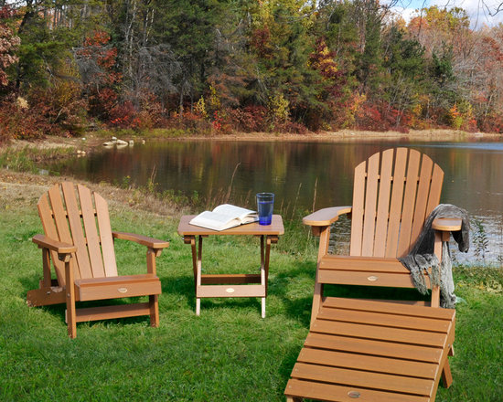 Home & Garden Accents - This Adirondack furniture set is available in various sizes and colors. It is made from a wood alternative that is guaranteed not to fade, peel, or ever need painting. It's perfect for your backyard, deck, or patio. All the furniture is foldable and is shipped by UPS.