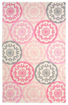 DwellStudio Kids Tufted Wool Rug Zinnia Rose contemporary-kids-rugs