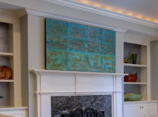 Flat Screen TV Cover Transitional Home Decor other
