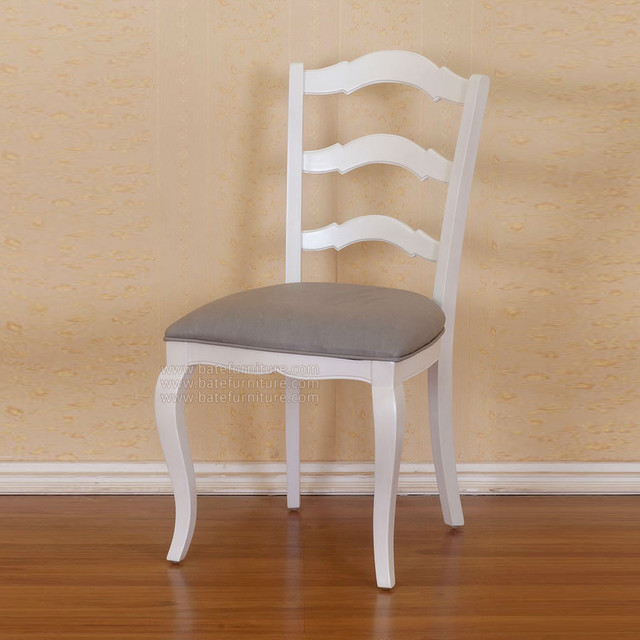 Ladder Back White Chair Traditional Dining Chairs