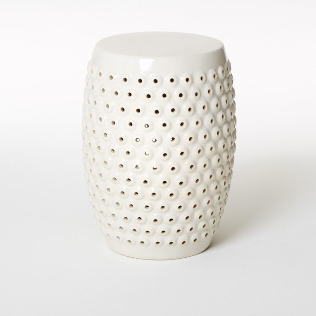 Bubble Ceramic Side Table Contemporary Tables And