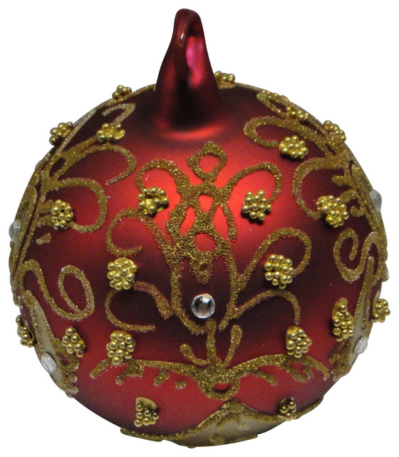 Peter Priess Christmas Handpainted Blown Glass Scarlet Christmas traditional-holiday-decorations