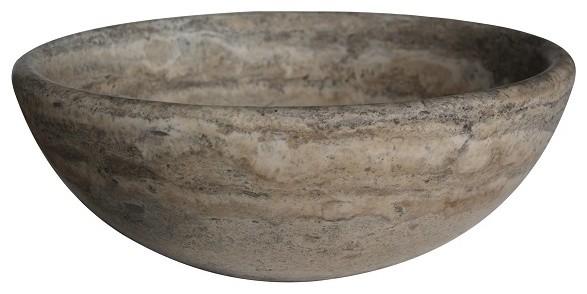 Mediterranean Bathroom Sinks: Classic Natural Stone Vessel Sink, Antico Travertine