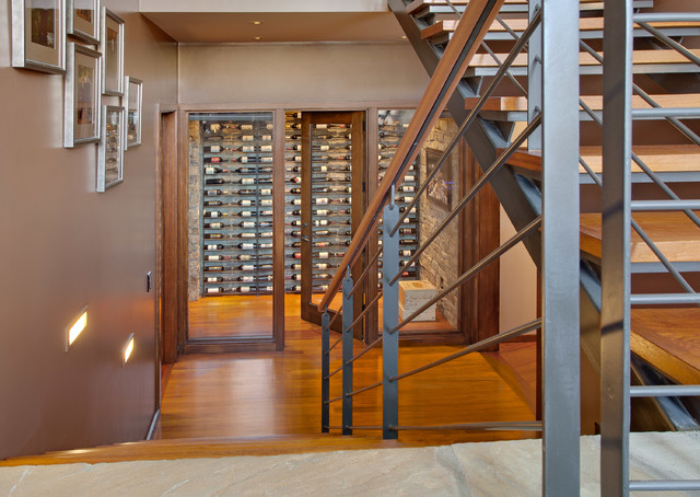House on the Edge contemporary-wine-cellar