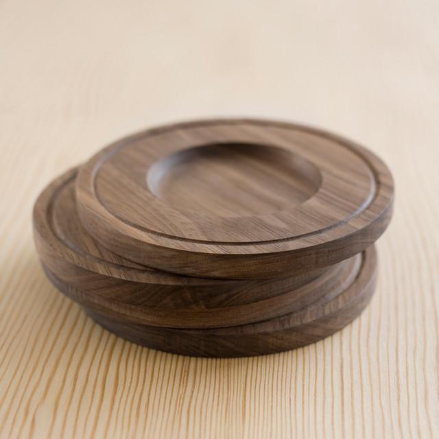Banded Wood Coasters modern-barware