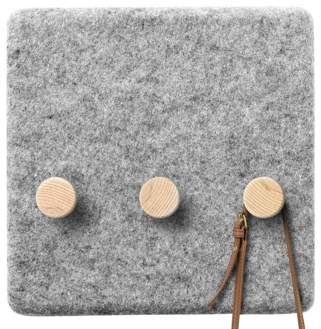 Felt Panel Coat Hanger contemporary-wall-hooks