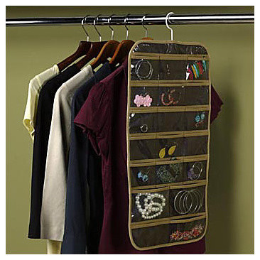 Dual-Sided Hanging Jewelry Organizer - Contemporary - Closet Organizers - by Improvements Catalog
