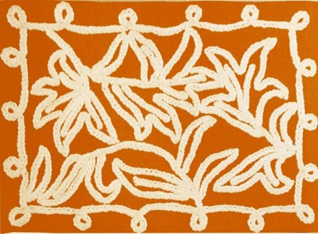 Windsor Orange Indoor / Outdoor Rug eclectic outdoor rugs