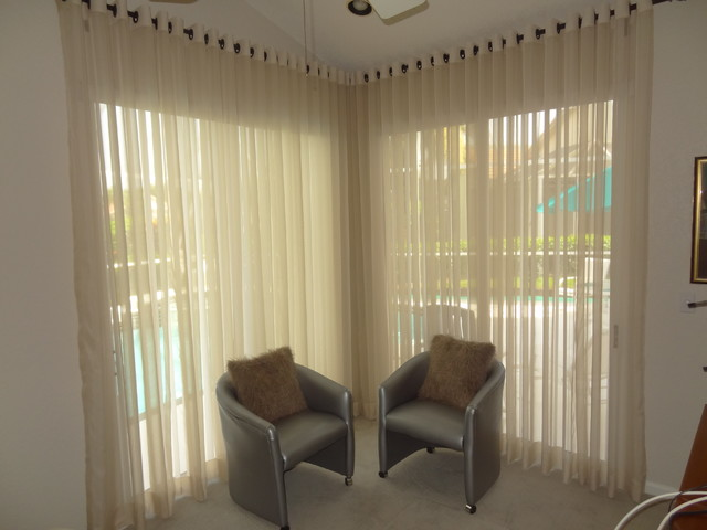 Modern Sheer Window Treatments Modern Bedroom Miami