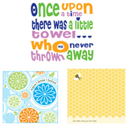 PeopleTowels 3 Day Supply, Bee Inspired Set contemporary-dish-towels