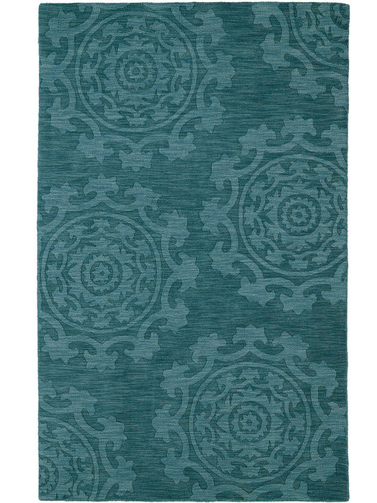Kaleen - Imprints Classic Ipc01 Turquoise Rug - Imprints Classic, where textiles meet fashion. Modern textile designs and todays hottest colors combine to meet the new evolution of this beautiful collection. Straight off the runway and into your home each rug is handmade in India of 100% Virgin Wool.