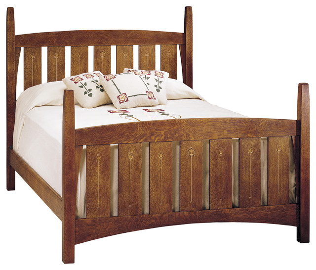 Stickley harvey ellis bed 89 91 672 for Craftsman bed