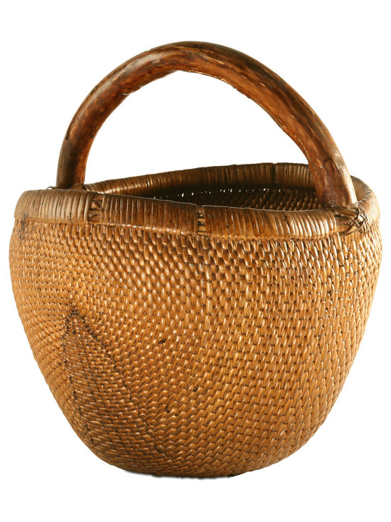 VIntage Willow Basket - The gorgeous vintage 'Willow' basket is an example of craftsmanship at its finest. This one-of-a-kind basket will add warmth and 'lived in' feel to any room. Use it to beautifully store blankets or any household items.