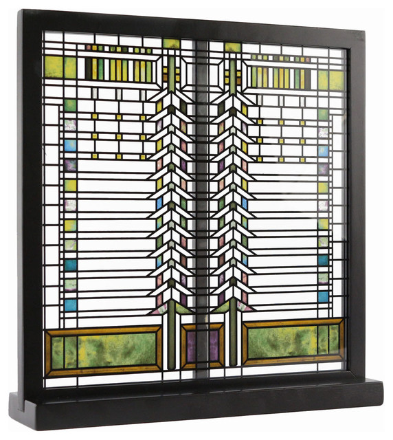 Frank Lloyd Wright Fireplace Screens: Frank Lloyd Wright Martin Casement Window Stained Glass