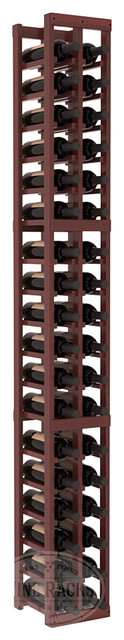 2 Column Standard Cellar Kit in Redwood with Cherry Stain + Satin Finish traditional-wine-racks