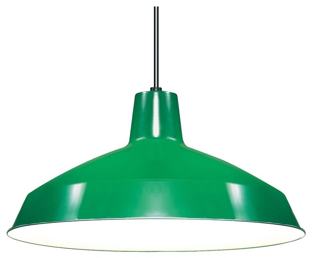 Nuvo Warehouse Shade, Green contemporary lamp shades