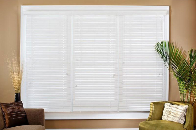Faux Wood 30 5/8-inch Blinds contemporary-window-treatments
