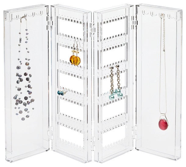 Acrylic Folding Jewelry Screen - Contemporary - Jewelry Boxes And Organizers - by The Container ...