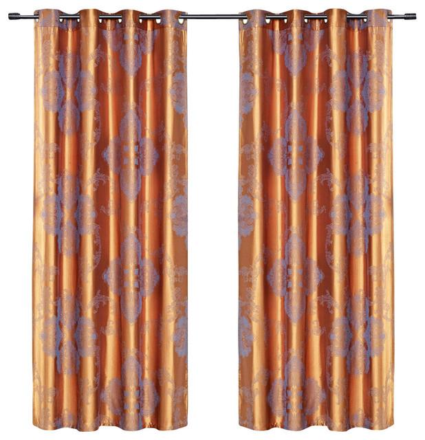 Dolce Mela DMC467 Window Treatments Damask Drapes Freya Curtain Panels traditional-curtains