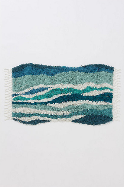 Sechura Bathmat, Turquoise beach-style-bath-mats