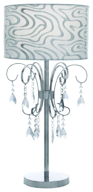 Casa Cortes French Design 27-inch Table Lamp with Crystals contemporary-table-lamps