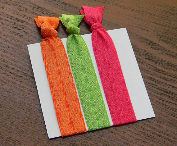 Sherbet Collection Gentle Elastic Hair Ties by ReStylista modern bath and spa accessories