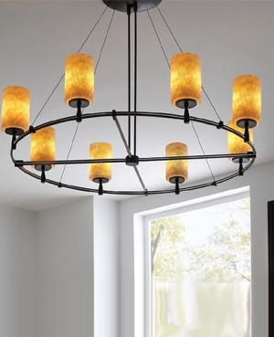 Onyx Low Voltage Round Monorail Chandelier Kit 9 Lights Modern Chandeli